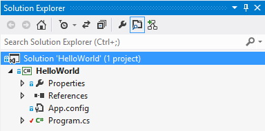 Visual Studio Explorer Edited File