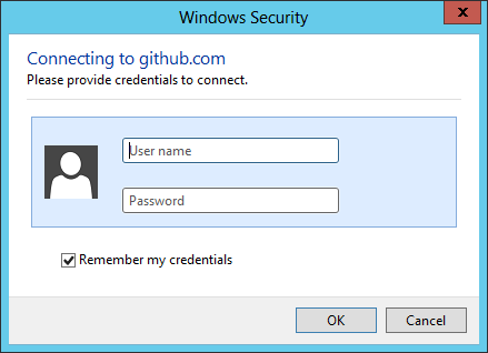 Visual Studio GitHub Credentials Prompt