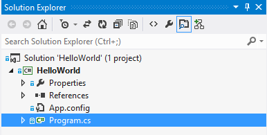 Visual Studio Solution Explorer First Commit Complete