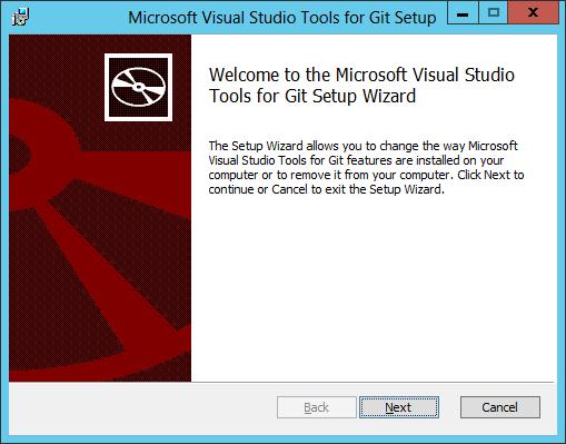Visual Studio Tools for Git Setup