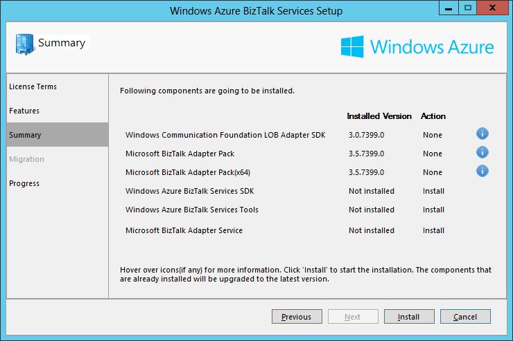 Azure BizTalk Services Summary