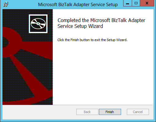 BizTalk Adapter Service Setup Install Finish