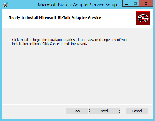 BizTalk Adapter Service Setup Install Ready