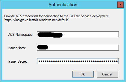 Visual Studio Server Explorer BizTalk Adapter Services ACS
