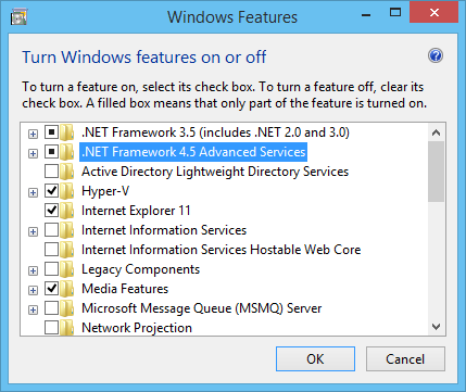 Windows Client Features Framework 4.5