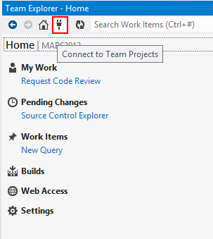 VisualStudio Team Explorer Connect
